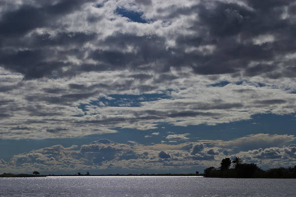 Clouds Chobe River  Art Print