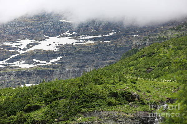 Photograph - Clouds Descending On Logan's Pass by Carol Groenen