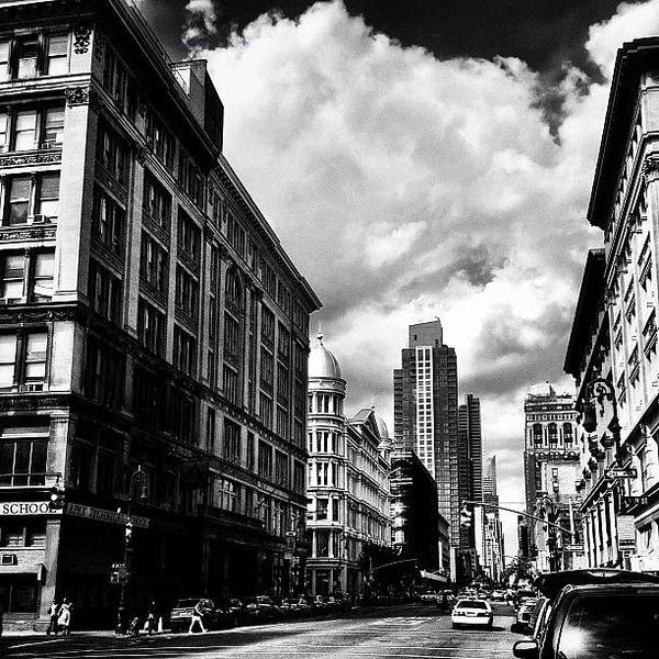 Black And White Photograph - Clouds Over Chelsea - New York City by Vivienne Gucwa
