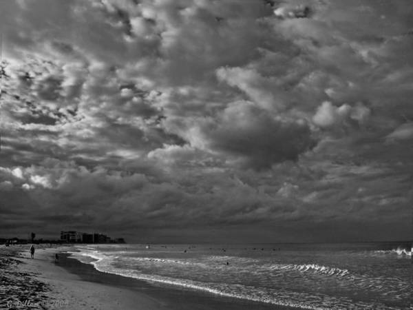 Photograph - Clouds Over Fort Pierce Inlet Beach by Grace Dillon