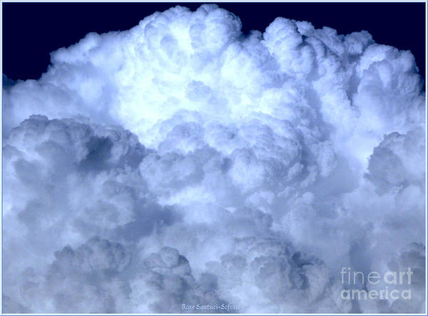 Photograph - Clouds With Blue Special Effect by Rose Santuci-Sofranko
