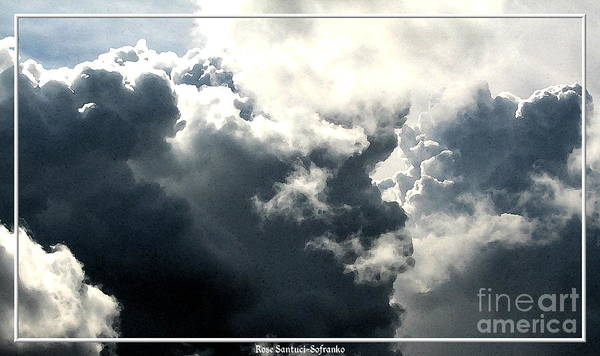 Photograph - Clouds With Contrast And Watercolor Effect by Rose Santuci-Sofranko