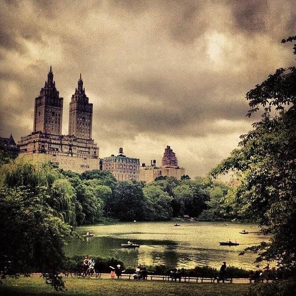 Newyork Wall Art - Photograph - Cloudy Central Park. #nyc #centralpark by Luke Kingma