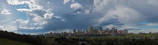 Cloudy Panorama Edmonton Art Print