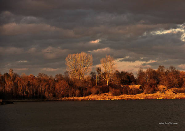 Photograph - Cloudy Sunset by Edward Peterson