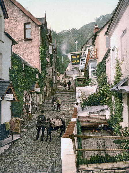 Bristol Channel Photograph - Clovelly - England - High Street by International  Images