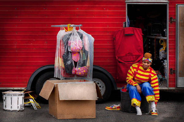 Photograph - Clown - Wardrobe Change by Mike Savad