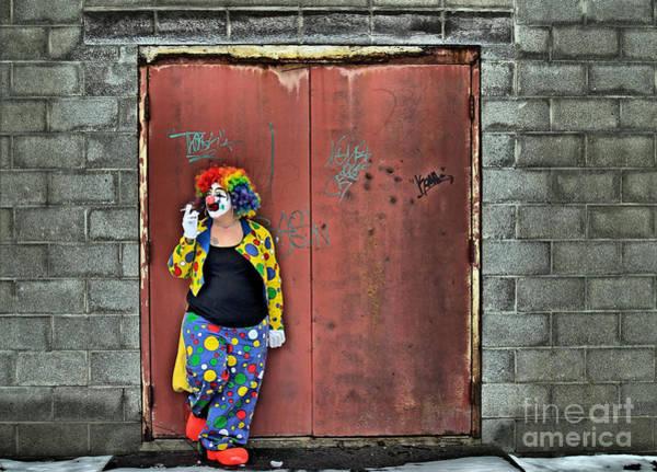 Photograph - Clown Trash by Terry Doyle