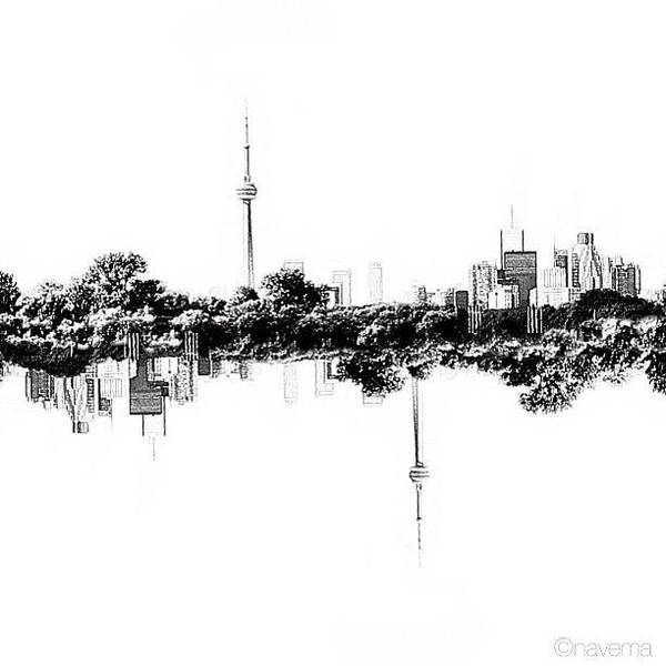 Monochrome Wall Art - Photograph - Cn Tower Series: Reflection by Natasha Marco