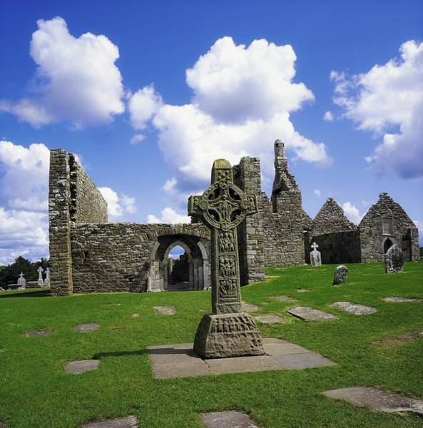 Dilapidation Wall Art - Photograph - Co Offaly, Clonmacnoise by The Irish Image Collection