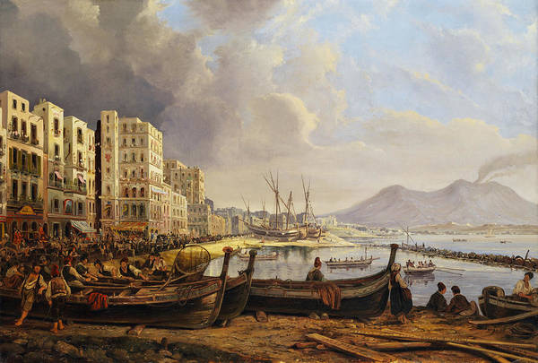 Trader Painting - Coast In Naples by Pieter van Loon