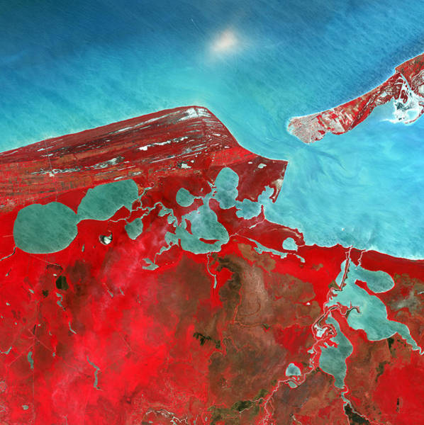 Campeche Photograph - Coastal Lagoons, Satellite Image by Nasa