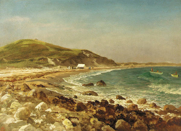 Painting - Coastal Scene by Albert Bierstadt
