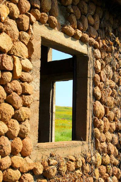 Prairie View Digital Art - Cobble House Window by Terry Hollensworth-Rutledge