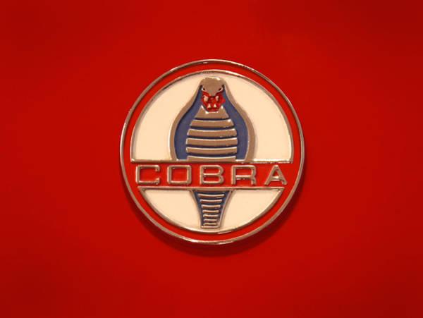 Shelby Photograph - Cobra Emblem by Mike McGlothlen