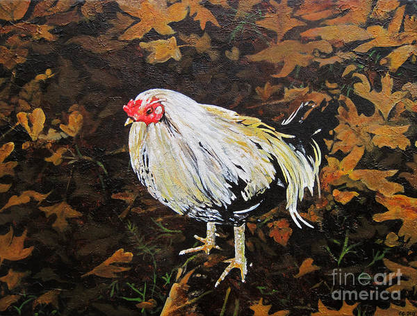 Wall Art - Painting - Cockerel by Carrie Jackson