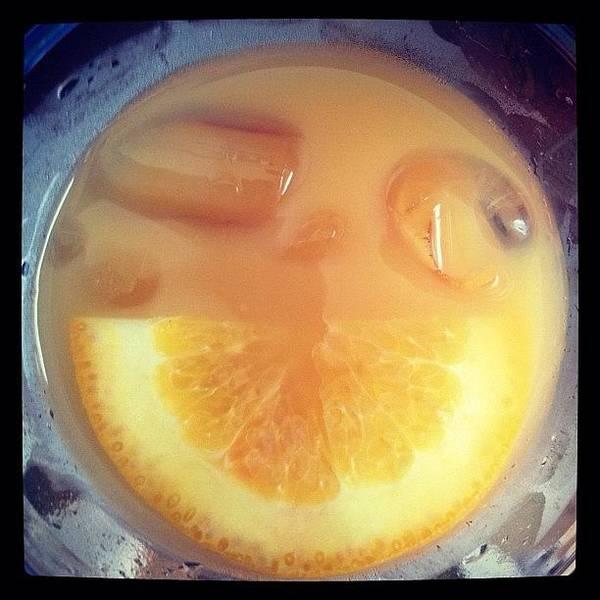 Grace Wall Art - Photograph - #cocktail #orange #ice #lemon #yellow by Grace Shine