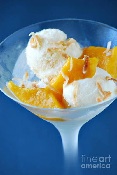 Mangos Photograph - Coconut Gelato by HD Connelly