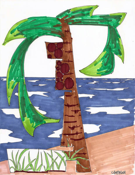 Painting - Coconut Tree by Teddy Campagna