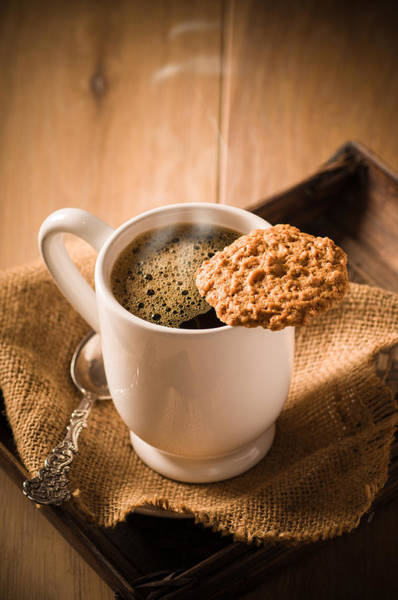 Wall Art - Photograph - Coffee And Biscuit by Amanda Elwell