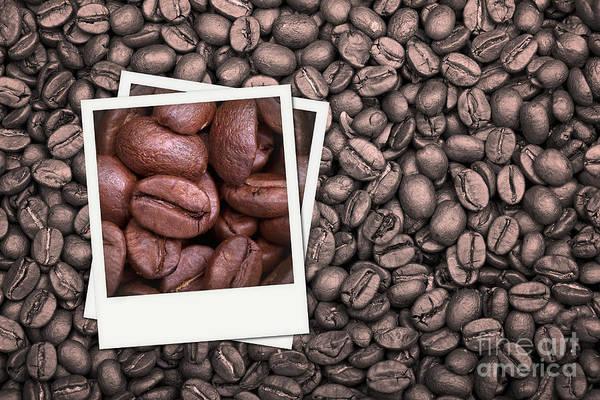 Addiction Wall Art - Photograph - Coffee Beans Polaroid by Jane Rix