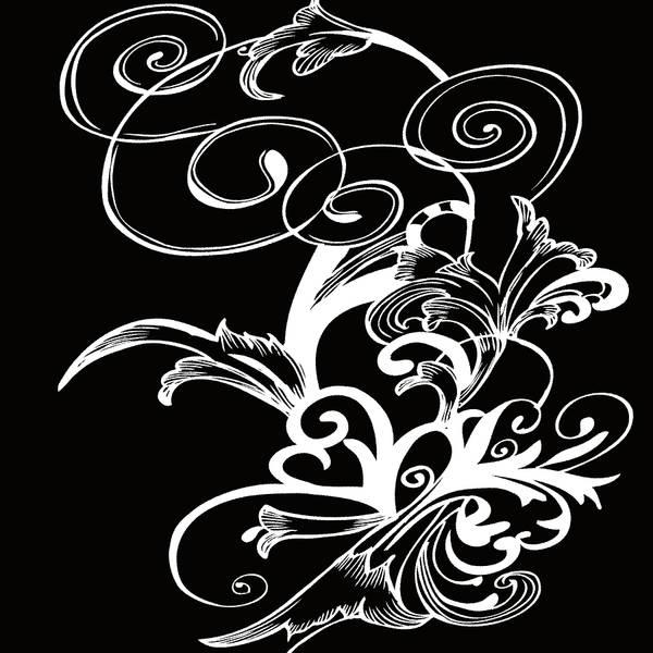 Digital Art - Coffee Flowers 1 Bw by Angelina Tamez