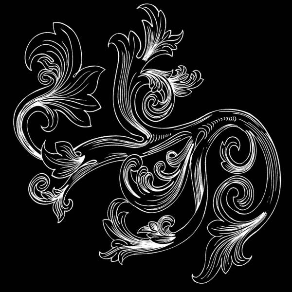 Digital Art - Coffee Flowers 2 Bw by Angelina Tamez