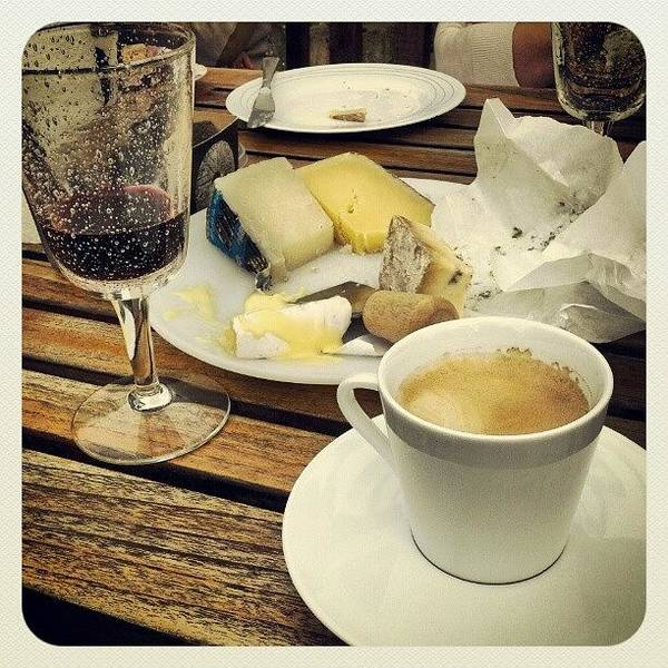 Wall Art - Photograph - #coffee, #wine And #cheese. Perfect by Martin  Cass