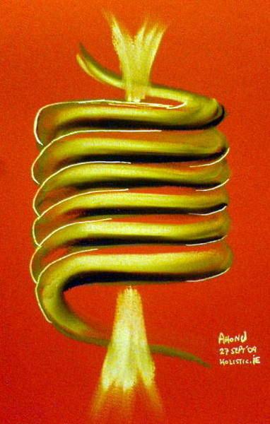 Painting - Coil Of Transformation by Ahonu