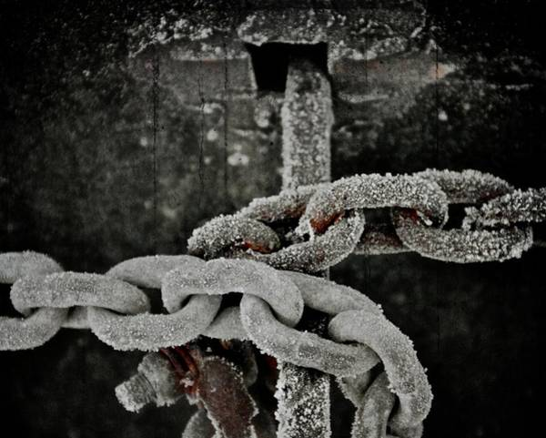 Chain Link Photograph - Cold Bond by Odd Jeppesen