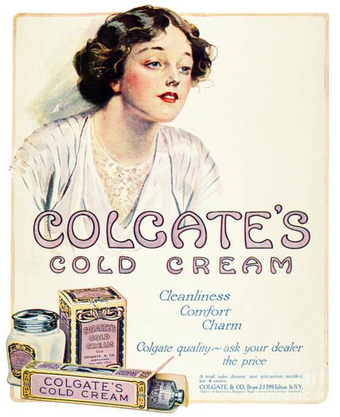 Colgate Wall Art - Photograph - Cold Cream, 1914 by Granger