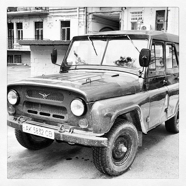 Vehicle Photograph - Cold War Car. #car #vehicle #kiev by Richard Randall