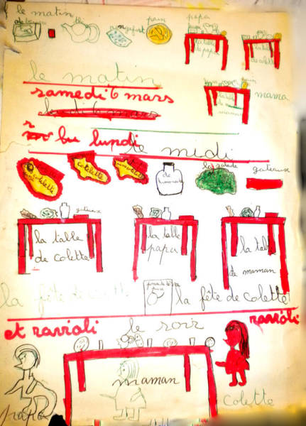 Drawing - Colette Drawing 4 Year Old In Alba France by Colette V Hera  Guggenheim