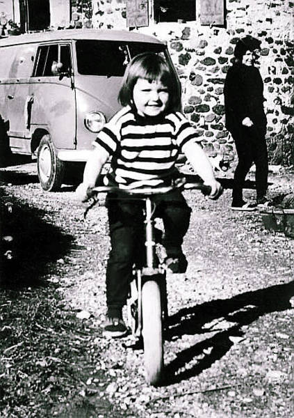 Photograph - Colette On Bike 4 Years Old And Mama Chris Behind  by Colette V Hera  Guggenheim