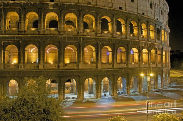 Coliseum Photograph - Coliseum  Illuminated At Night. Rome by Bernard Jaubert