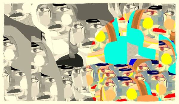 Painting - Collage by Ana Johnson