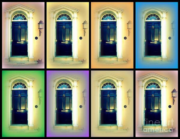 Wall Art - Photograph - Collage Of A Charleston Door by Susanne Van Hulst