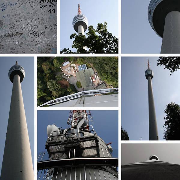 Collage Tv Tower Stuttgart Art Print