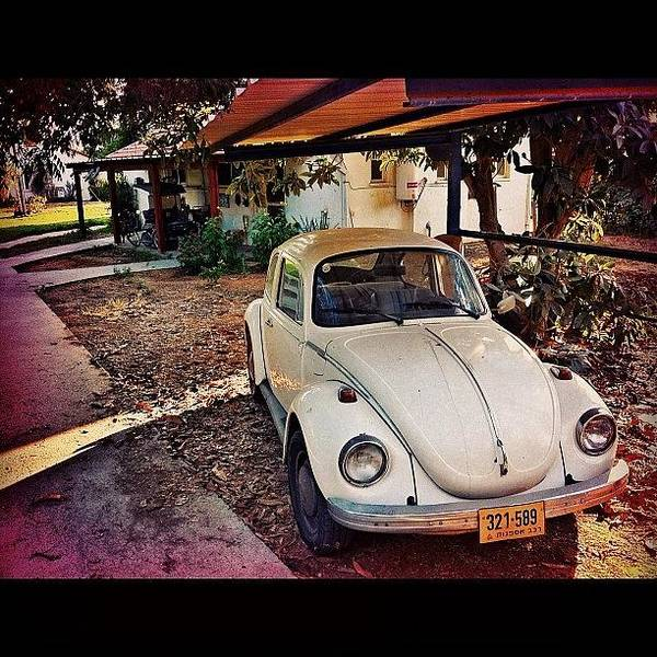 Volkswagen Photograph - #collectors #classic #car #auto #white by Alon Ben Levy