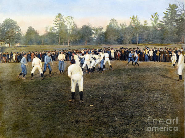 Photograph - College Footbal Game, 1889 by Granger