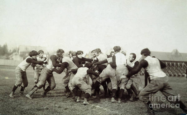 Photograph - College Football Game, 1905 by Granger