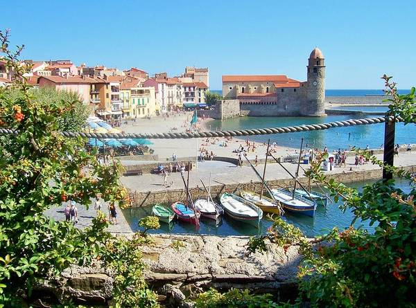 Knights Templar Photograph - Collioure From Knights Of Templar Castle by Marilyn Dunlap
