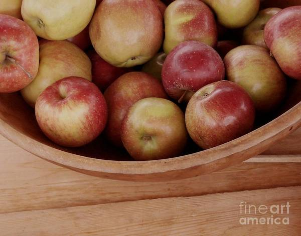 Photograph - Colonial Apples by Donna Cavanaugh