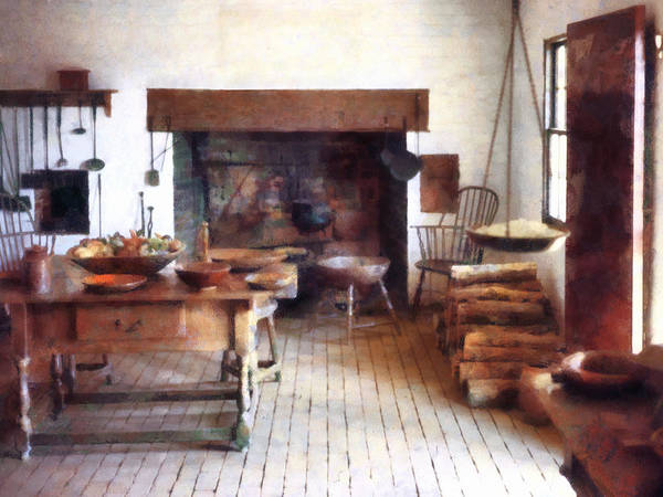 Photograph - Colonial Kitchen by Susan Savad