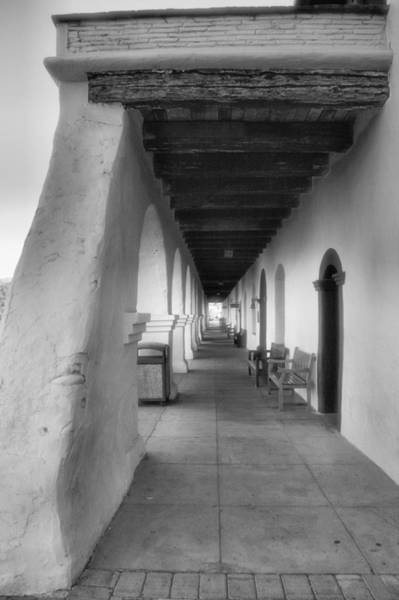 Solvang Photograph - Colonnade At Mission Santa Ines by Steven Ainsworth