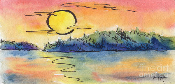 Painting - Color Me Sunset by Pat Katz