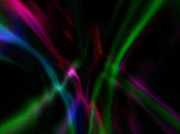Art Print featuring the digital art Color Rays by Mihaela Stancu