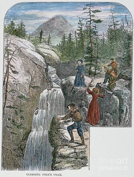 Photograph - Colorado: Pikes Peak, 1867 by Granger