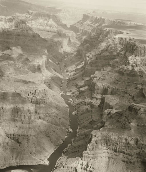 Photograph - Colorado River And Grand Canyon In Monochrome by M K Miller