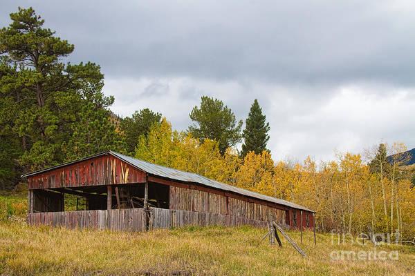 Photograph - Colorado Rustic Autumn High Country Barn by James BO Insogna